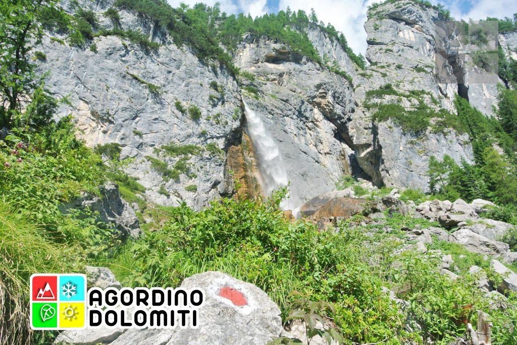 La cascata alta delle Comelle