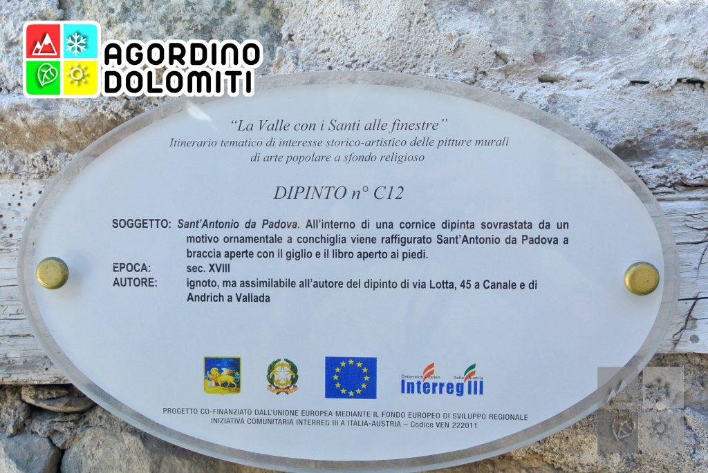 Valle con i Santi Alle Finestre | Canale d'Agordo | Val Biois | Agordino | Dolomiti UNESCO