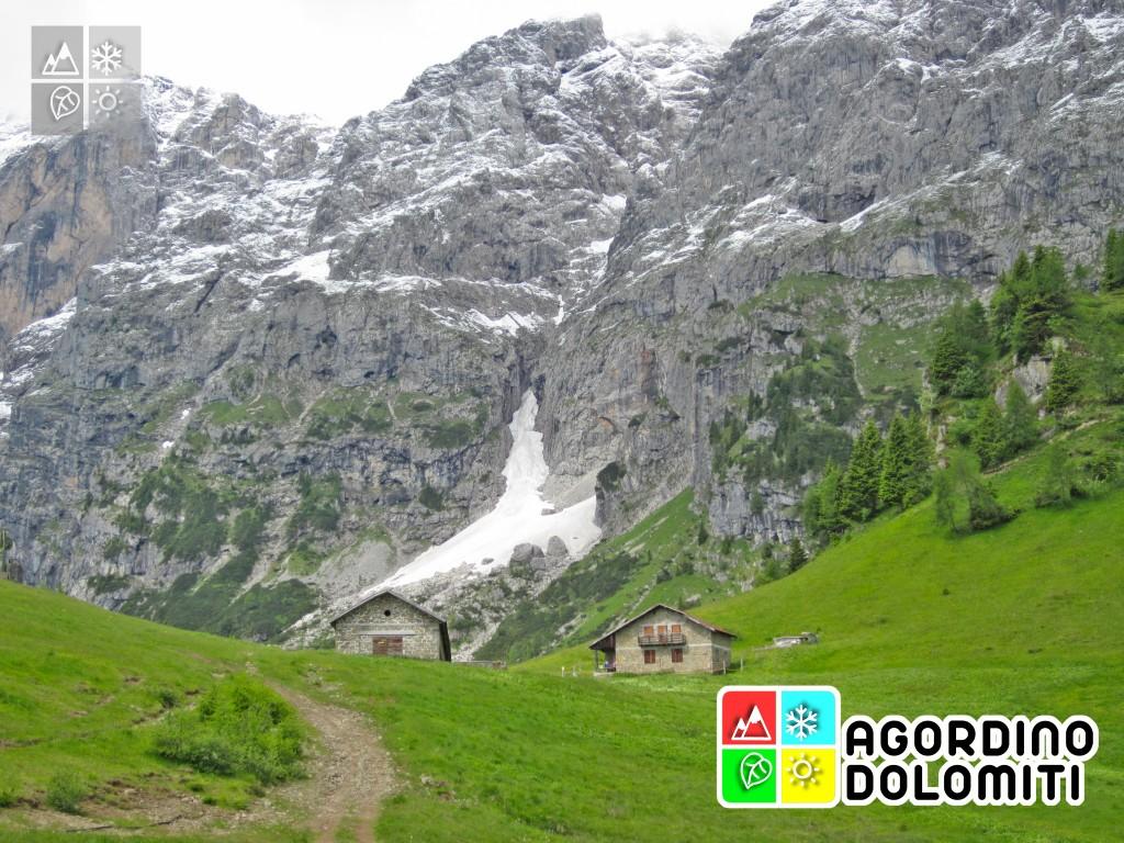 AI piedi dell'Agner nei pressi del Rifugio Scarpa-Gurekian