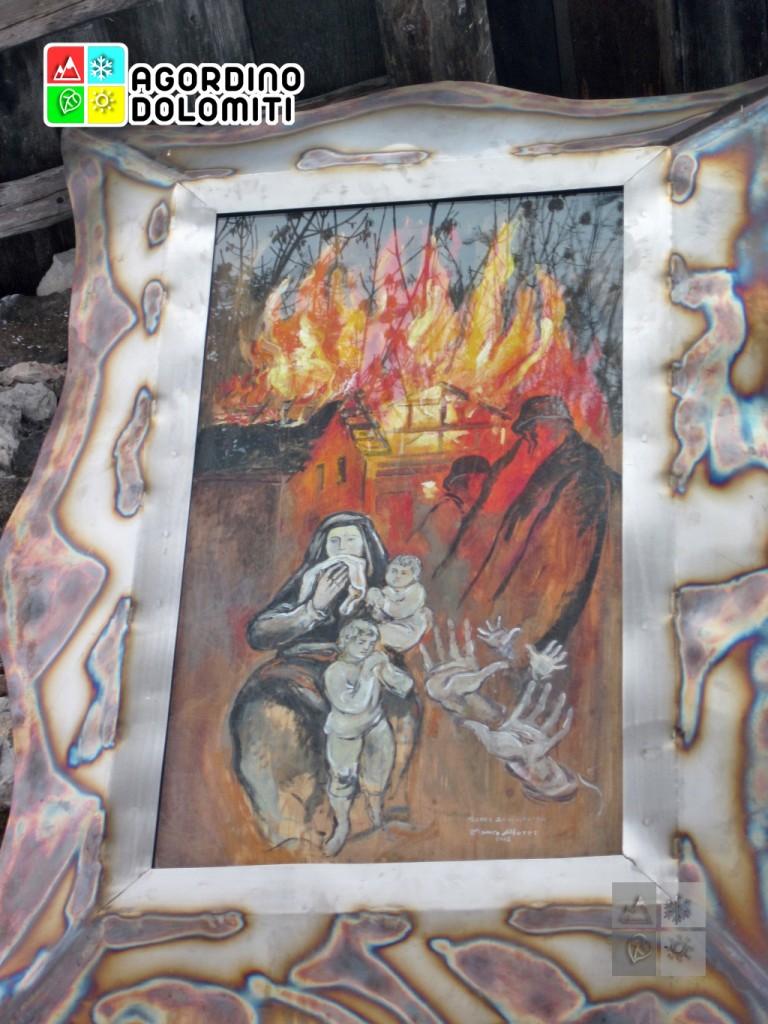 Opera commemorativa sulla strage della Val Biois di Franco Murer a Gares