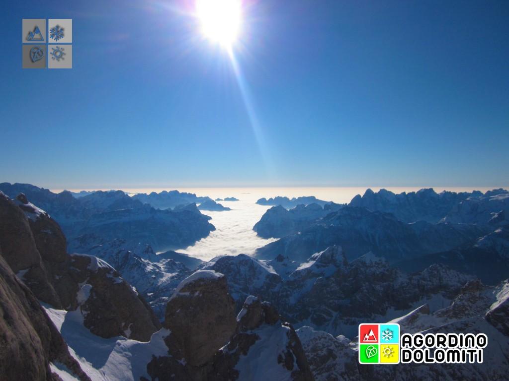 Le Dolomiti da Punta Rocca sulla Marmolada