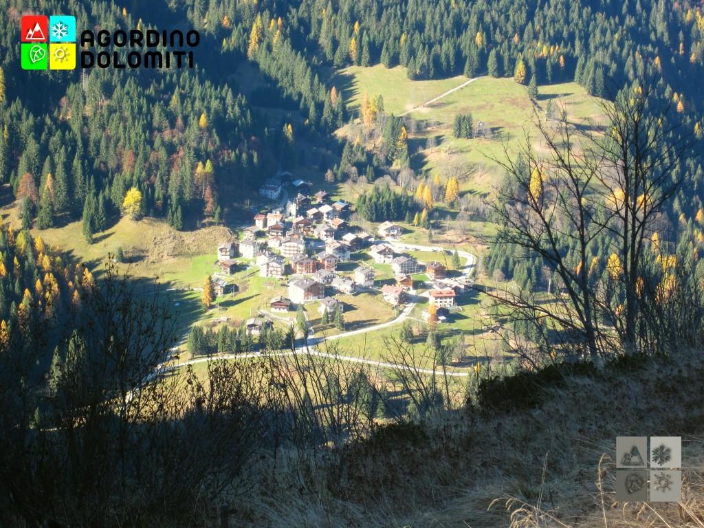 Il villaggio di Gares da Casera Campigat
