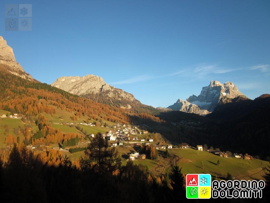 La Val Fiorentina e Selva di Cadore con Pelmo sullo sfondo