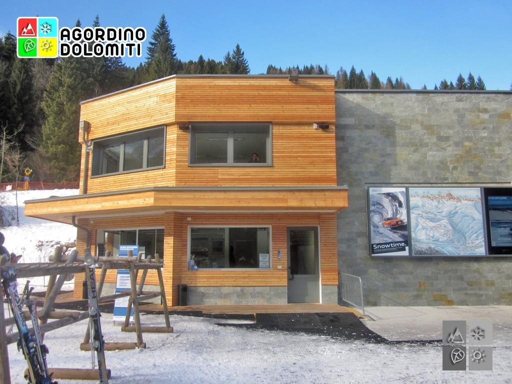 Ufficio skipass della nuova cabinovia Falcade - Le Buse