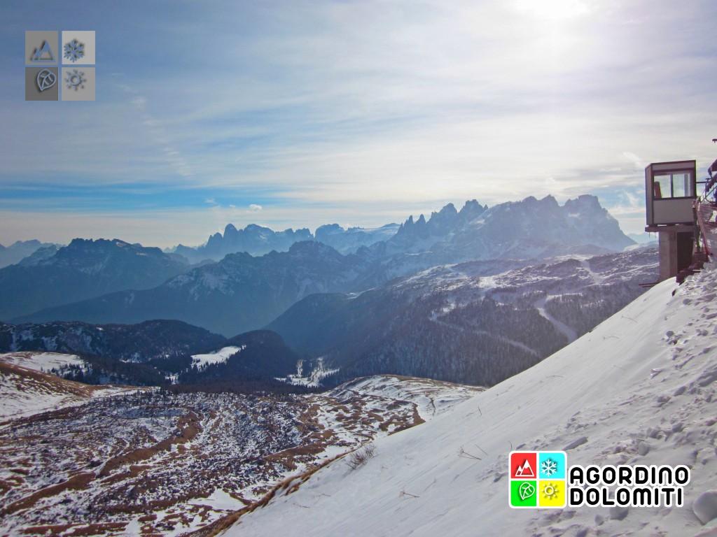 Panorama sulle Pale di San Martino da Cima Uomo