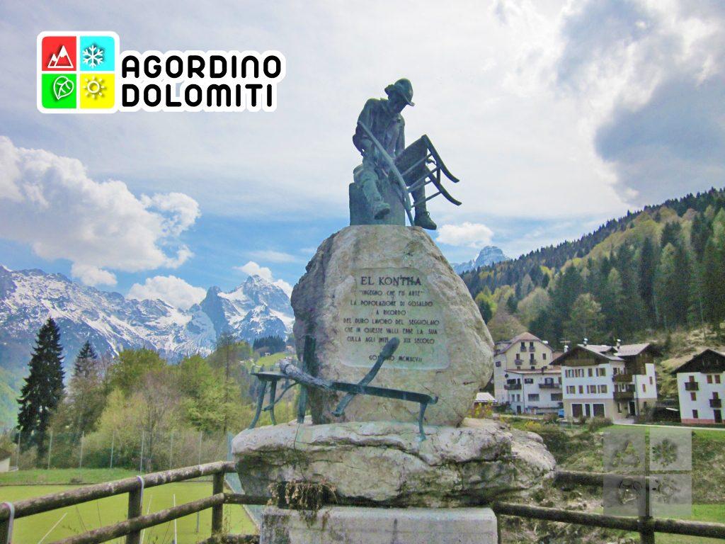 Monumento al Contha a Gosaldo