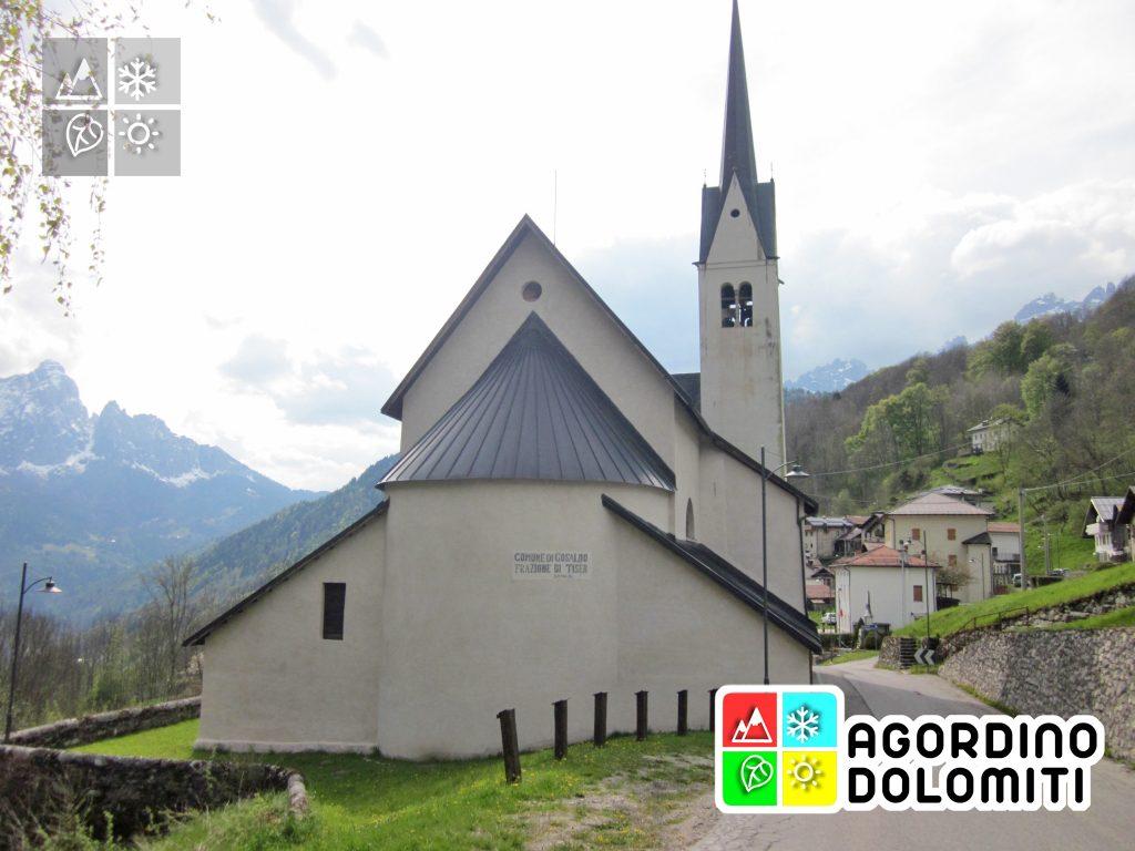 La chiesa di San Bartolomeo Apostolo a Gosaldo