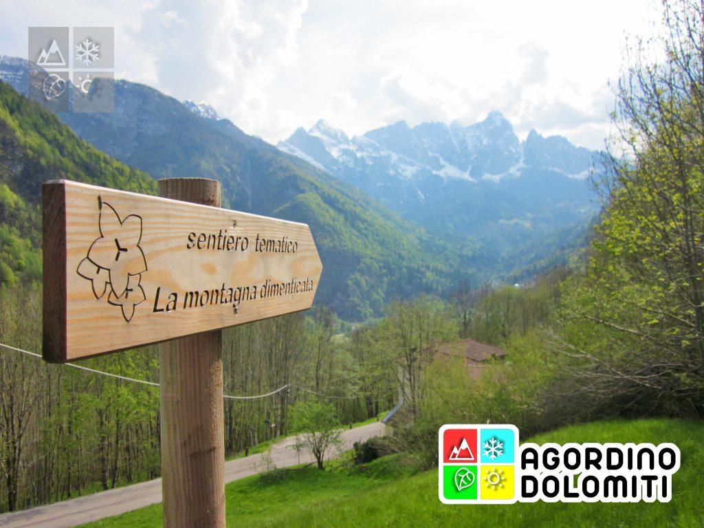 Cartelli a Tiser del sentiero tematico la Montagna Dimenticata