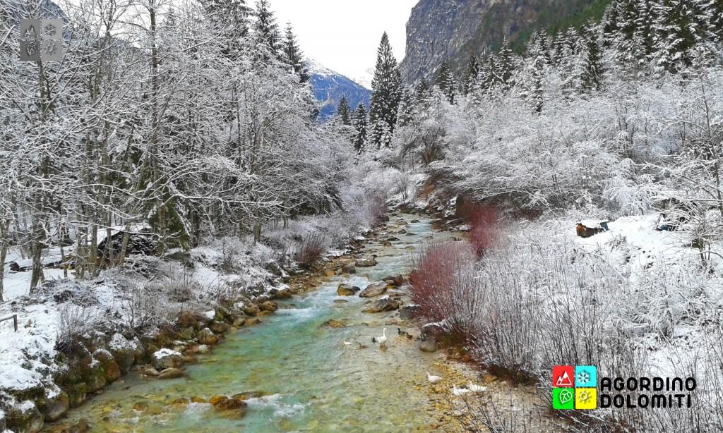 La Valle di San Lucano in inverno
