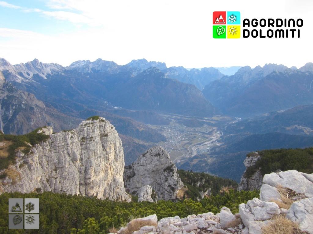 Panorama sulla Conca Agordina dalle Pale di San Lucano