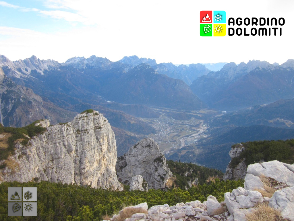 Panorama sulla Conca Agordina