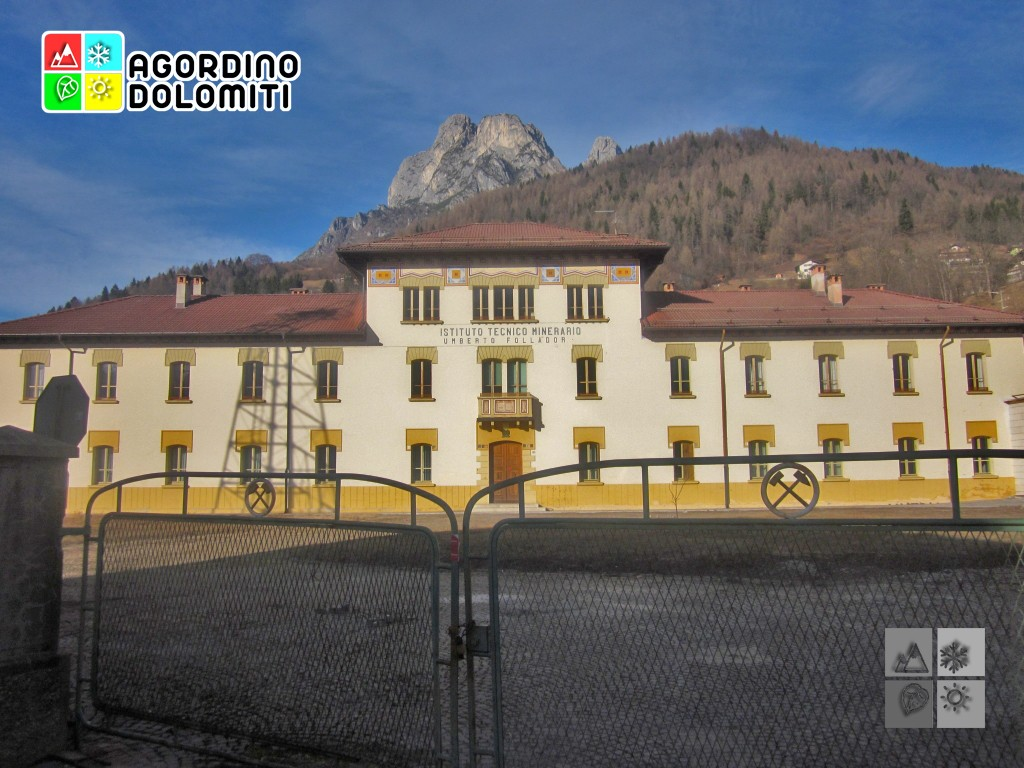 Die alte Bergbauinstitut in Agordo