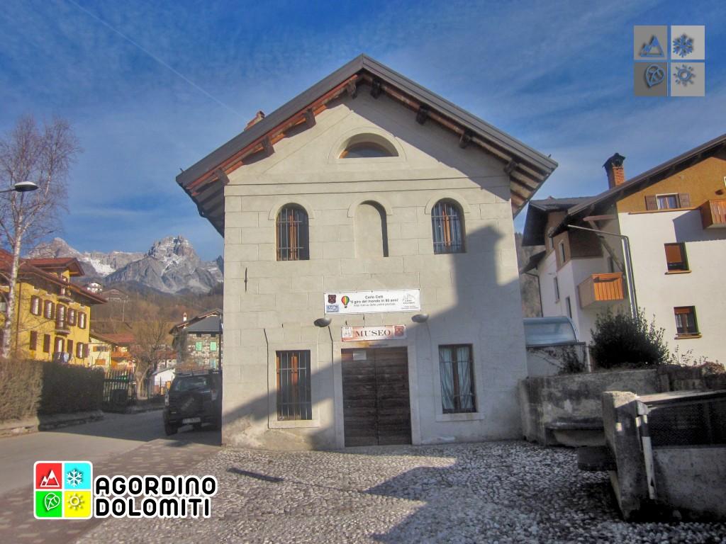 Der Sitz der geologischen und paläontologischen Ausstellung in Agordo