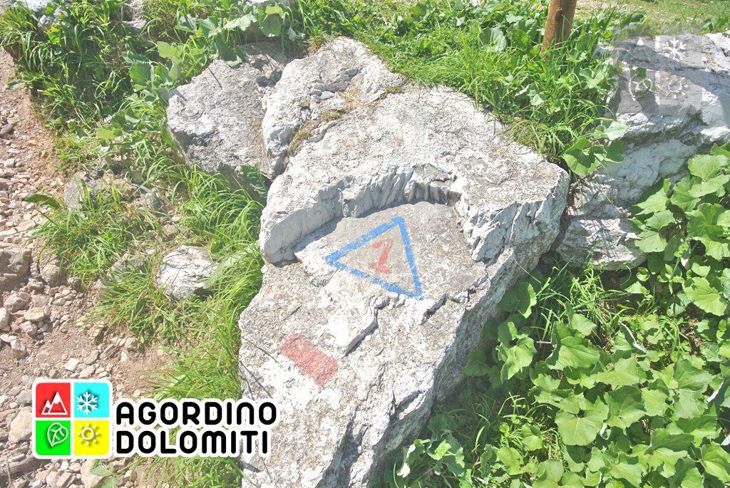 Segnavia dell'Alta Via delle Dolomiti n. 1