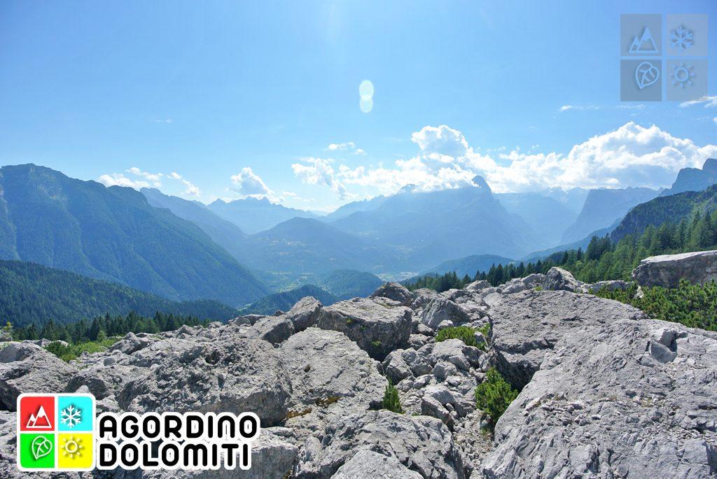 La Conca Agordina dall'Alta Via delle Dolomiti 1 ai piedi del San Sebastiano
