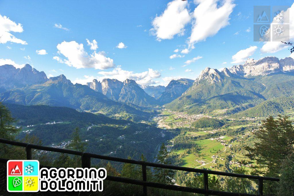 La Conca Agordina dal Belvedere del Sasso di San Martino