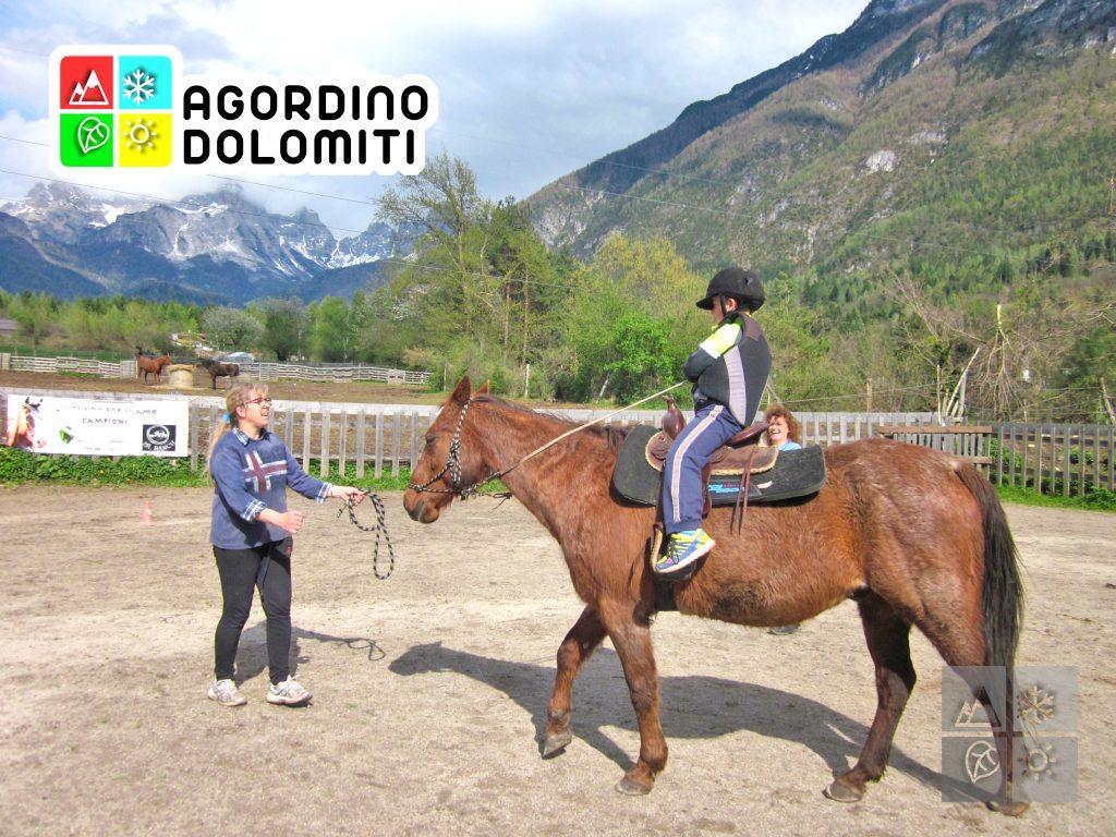 a Cavallo nelle Dolomiti