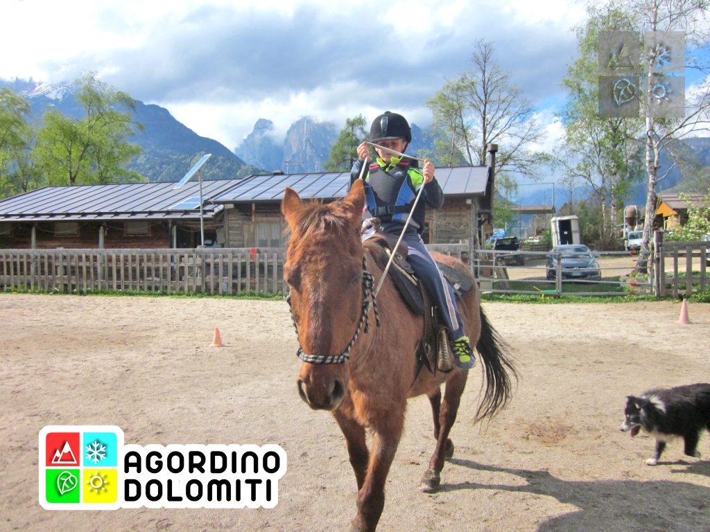 Equitazione per bambini Dolomiti