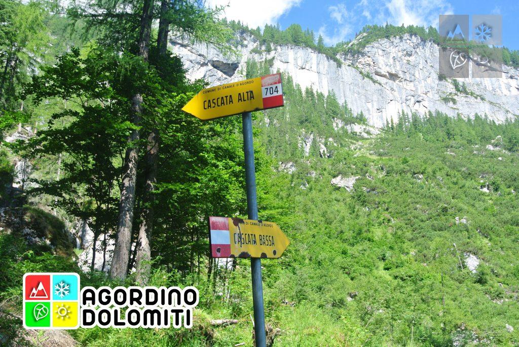 Cascata delle Comelle | Valle di Gares | Canale d'Agordo | Dolomiti