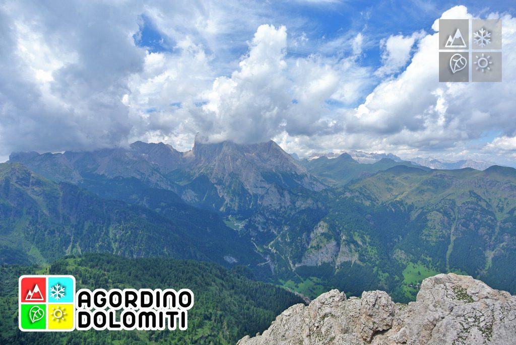 Val Pettorina e parete sud della Marmolada da Cima Sasso Bianco