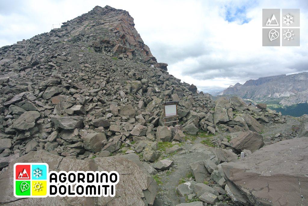 Cratere dimina austriaca sul Monte Sief
