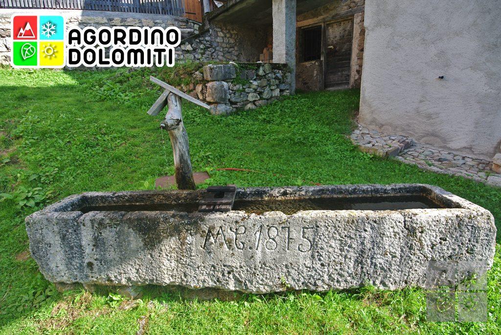 La fontana di Chioit, opera degli Scalpellini di Cencenighe