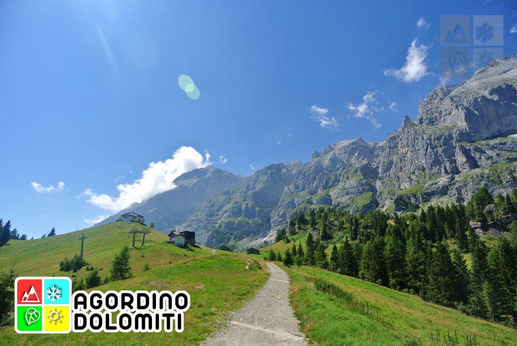 Rifugio Scarpa - Col di Luna     Escursioni in Agordino   Dolomiti UNESCO