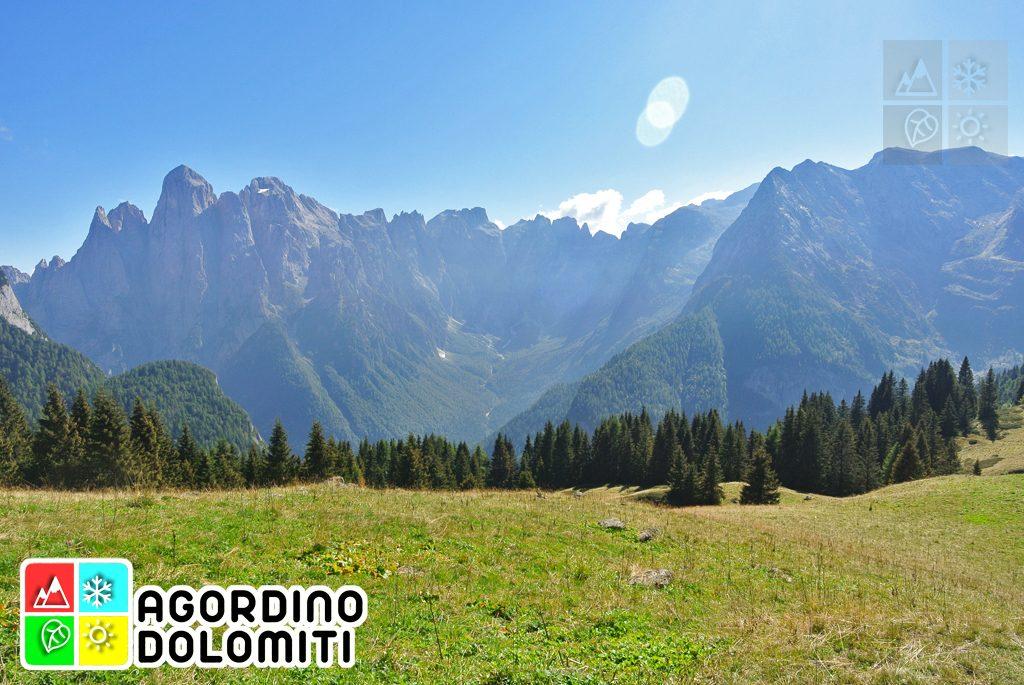 Val d'Angheraz e Pale di San Martino dai Doff