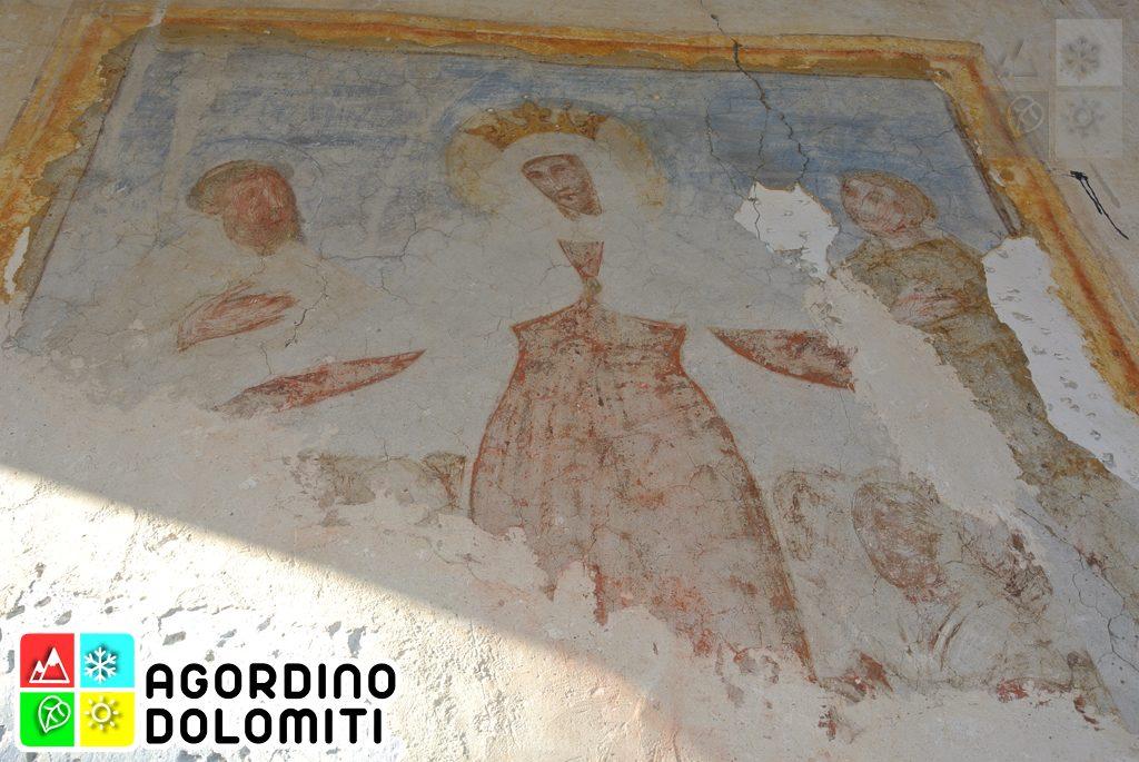 Affresco sulla facciata dell'Oratorio dei Battuti