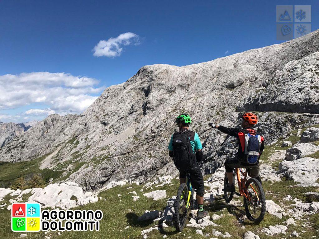 Mountain Bike in Agordino, Cuore delle Dolomiti